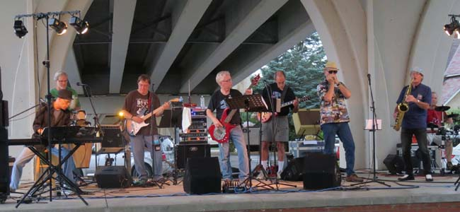 Rutabaga Brothers under the bridge in Wabasha